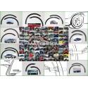 SUZUKI WAGON (R+)  '97-00 wheel arch trims